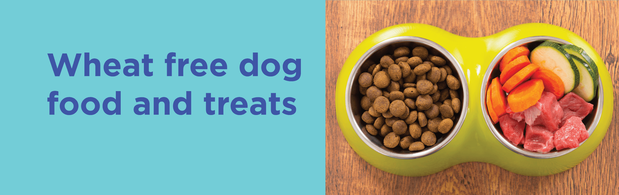 Wheat free dog food and treats
