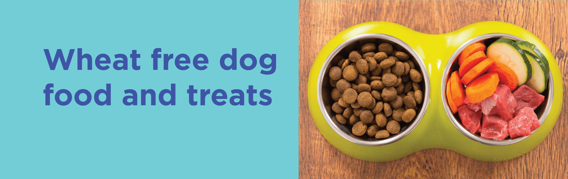 Wheat free dog food and treats